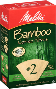Melitta® Bamboo Coffee Filters #2 Size 80 ct Box