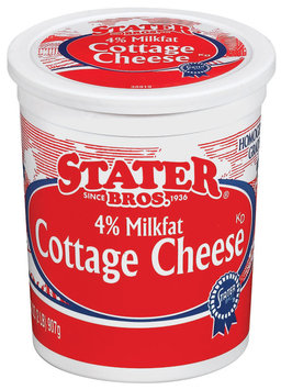 Stater Bros. 4% Milkfat Cottage Cheese 32 Oz Tub