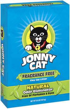 Jonny Cat Fragrance Free Clay W/Natural Odor Eliminator Cat Litter 20 Lb Stand Up Bag