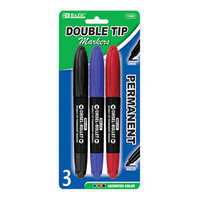Bazic 1242-24 Assorted Color Double-Tip Permanent Marker