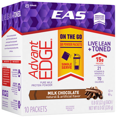 EAS® AdvantEDGE® Milk Chocolate Pure Milk Protein Powder 10-0.8 oz. Box