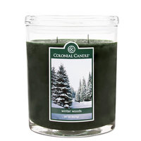 Fragranced in-line Container CC022.706 22oz. Oval Winter Woods Candles