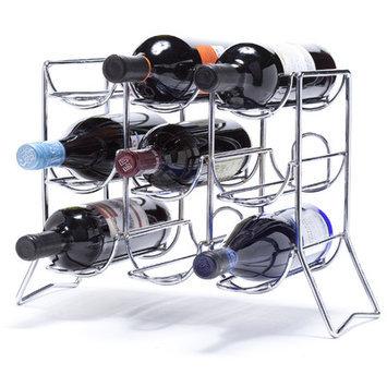 Red Barrel Studio Rooftop 9 Bottle Tabletop Wine Rack