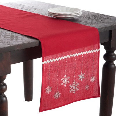 Saro Snowflake Design Table Runner