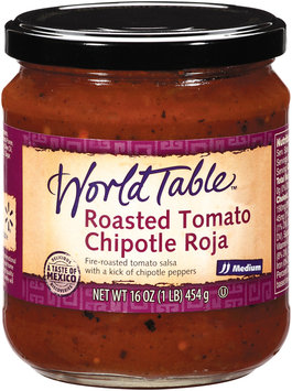 World Table Roasted Tomato Chipotle Roja Medium Salsa 16 Oz Jar