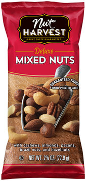 Nut Harvest® Deluxe Mixed Nuts 2.75 oz. Bag