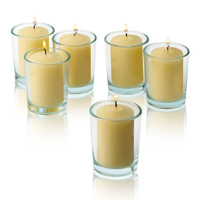 Light In The Dark Unscented Votive Candles (Set of 36) Color: Ivory