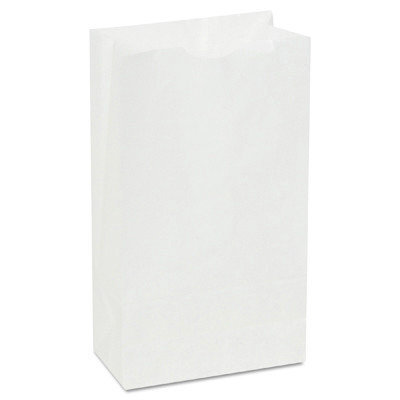 General 6# Paper Bag, 35-Pound Base Weight, White, 6 x 3-5/8 x 11-1/16, 500-Bu