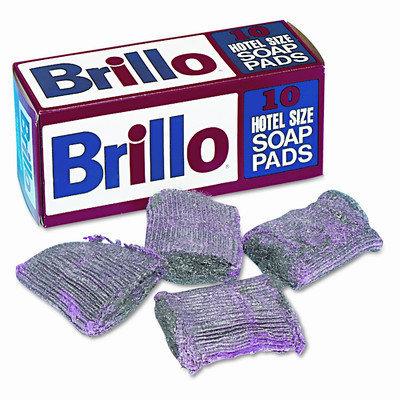 Brillo W240000 Steel Wool Soap Pad- 10/Box