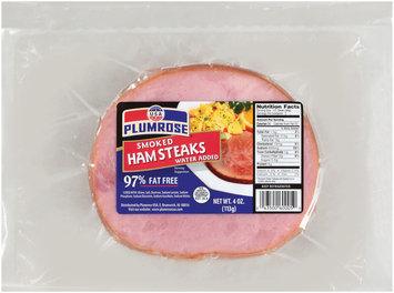 Plumrose Smoked Ham Steaks 4 Oz Package