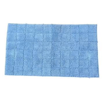 Textile Decor Castle 100% Cotton Summer Tile Spray Latex Back Bath Rug, 40 H X 24 W, Medium Blue