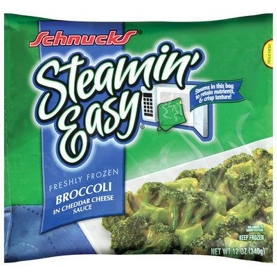 Schnucks® Steamin' Easy® Frozen Broccoli in Cheddar Cheese Sauce 12 oz.