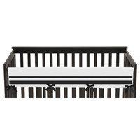 Sweet Jojo Designs Hotel Long Crib Rail Guard Cover Color: Black
