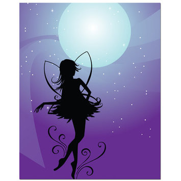 Secretly Designed Fairy Moon Art Print Size: 5