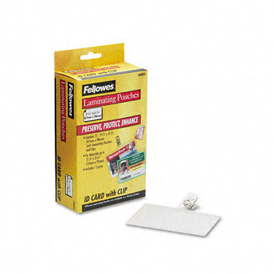 Fellowes Laminating Pouches, 5mm, 2-5/8 x 3-7/8, 25/pack