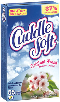 Cuddle Soft Original Fresh Fabric Softener Dryer Sheets 55 Ct Box
