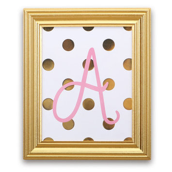 Farallon Brands Farallon Peanut Shell Pink/White/Gold Letters Sheets - 10 Inches x 12 Inches