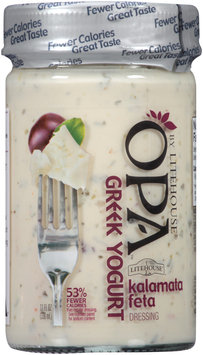 OPA by Litehouse® Greek Yogurt Kalamata Feta Dressing 11 fl. oz. Jar