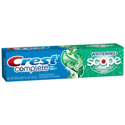 Crest Complete Multi-Benefit Whitening + Scope Minty Fresh Flavor Toothpaste 4.4 oz. Carton