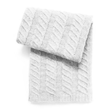 Esteffi Chunky Cable Wool Blend Baby Blanket (Set of 2) Color: Ivory