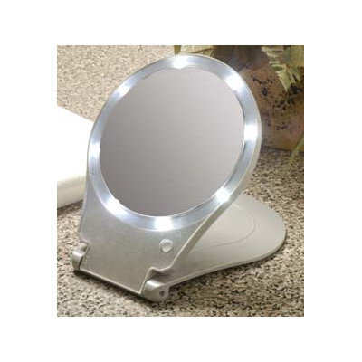 Taylor Gifts Floxite Lighted Travel & Home 10X Mirror
