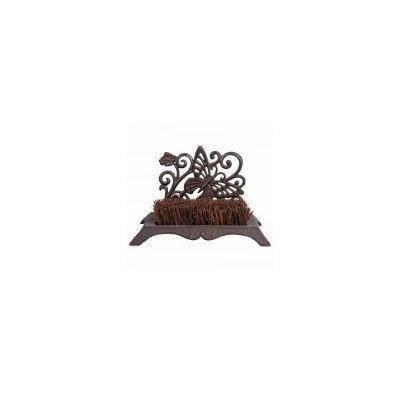 Esschertdesign Miscellaneous Butterfly Design Cast Iron Boot Brush