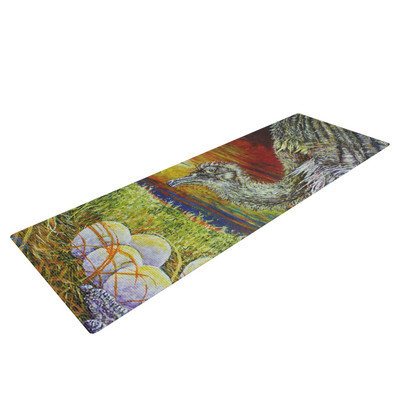 Kess Inhouse Ostrich by David Joyner Yoga Mat