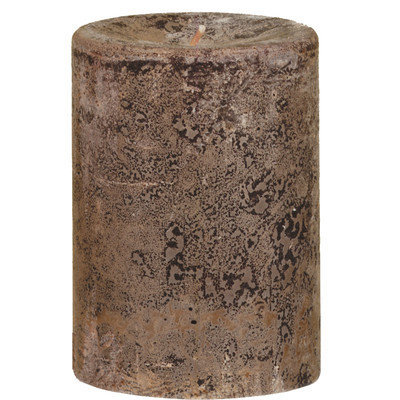 Oddity, Inc. Oddity 53120 3 in. x 4 in. Weathered Pillar Candle Latte Pack of 3