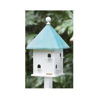 Lazy Hill Farms Blue Verde Copper Roof Square Bird House