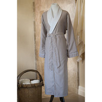 Jennifer Adams Home Essentials Bath Robe, Small, Silver Gray
