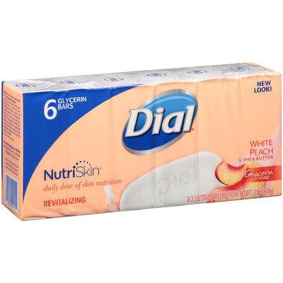 Dial® NutriSkin® White Peach & Shea Butter Glycerin Soap 6-3.2 oz. Bars