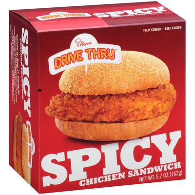 Pierre™ Drive Thru™ Spicy Chicken Sandwich 5.7 oz. Box