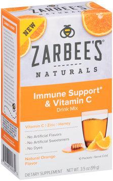 Zarbee's® Naturals Immune Support & Vitamin C Drink Mix 10 ct Box