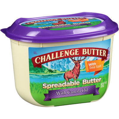 Challenge Butter Spreadable Butter with Canola Oil 15 oz. Tub