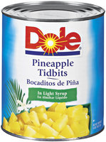 Dole Pineapple Tidbits In Light Syrup