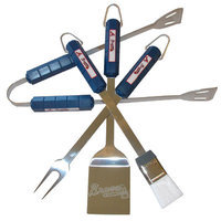 Siskiyou Products Atlanta Braves Four Piece Barbeque Set