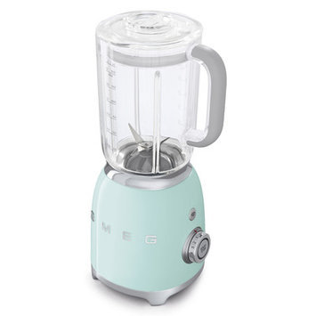 Smeg BLF01PGUS 50s Retro Style Blender with 6 Cups Tritan BPA-Free Jug Detachable Stainless Steel Dual Blades Overload Motor Protection 4 Speeds and 3 Preset