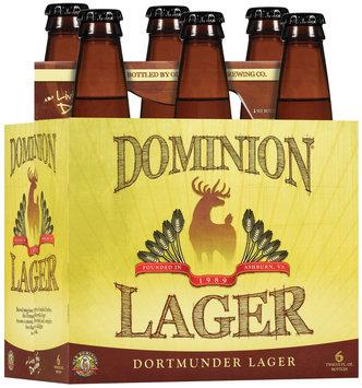 Dominion 12 Oz Dortmunder Lager Beer 6 Pk Glass Bottles