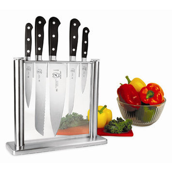 Mercer Tool M23500 6 Pieces. Forged Knife Block Set-Glass
