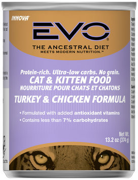Evo® Turkey & Chicken Formula Cat & Kitten Food 13.2 oz. Can