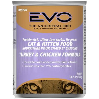 Evo® Turkey & Chicken Formula Cat & Kitten Food 13.2 oz. Can