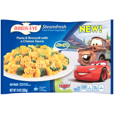 Birds Eye® Steamfresh® Fresh Frozen Vegetables Disney Pixar Cars Pasta & Broccoli with a Cheese Sauce 10 oz. Bag