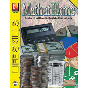 Remedia Publications 598B Practical Practice Math Series- Math at Home
