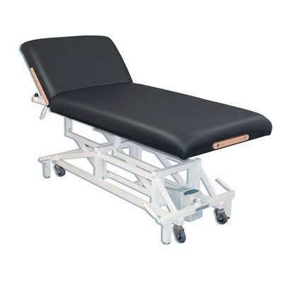 Customcraftworks McKenzie Lift Back Electric Massage Table Color: Navy Blue
