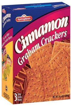 Springfield Cinnamon 3 Stay-Fresh Packs Graham Crackers 14.4 Oz Box