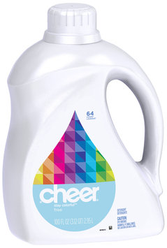Cheer 2X Ultra Free & Gentle Liquid Laundry Detergent 100 fl. oz. Bottle
