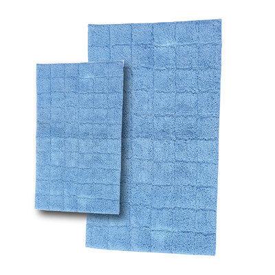 Textile Decor Castle 2 Piece 100% Cotton Summer Tile Spray Latex Bath Rug Set, 30 H X 20 W and 40 H X 24 W