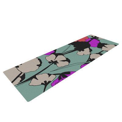 Kess Inhouse Vintage Flowers by Gabriela Fuente Yoga Mat