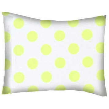 Stwd Neon Polka Dots Cotton Percale Crib/Toddler Pillow Case Color: Yellow