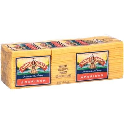 Land O'Lakes® Yellow American Premium Deli Cheese 5 lb. Package